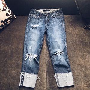 Joes Jeans distressed denim boyfriend jeans